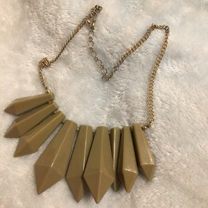 Jewelry - Taupe nude brown geometric necklace